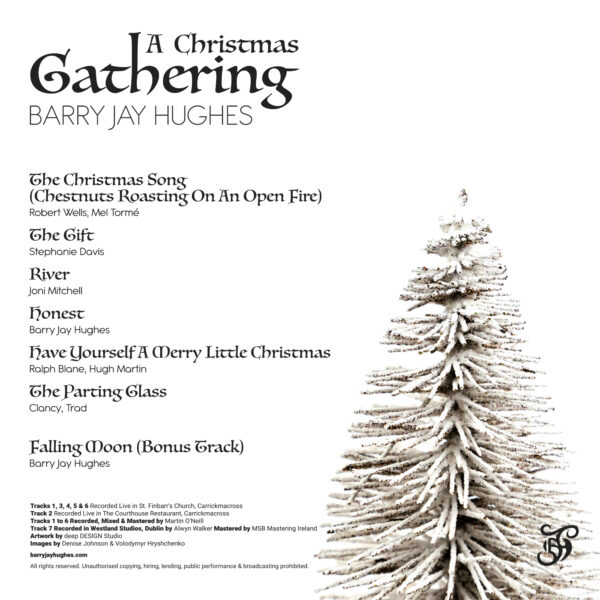 BARRY JAY HUGHES - A CHRISTMAS GATHERING ALBUM COVER BACK